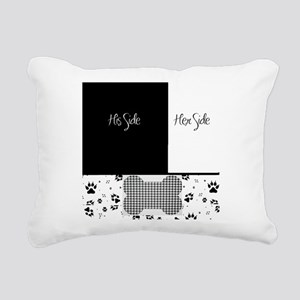 His Side Her Side Pets Rectangular Canvas Pillow