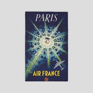 Paris, France, Vintage Travel Poster Area Rug