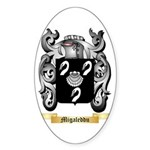 Migaleddu Sticker (Oval 50 pk)