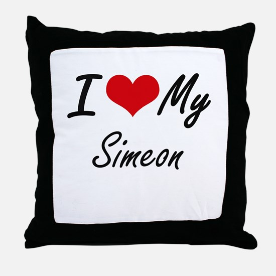 I Love My Simeon Throw Pillow