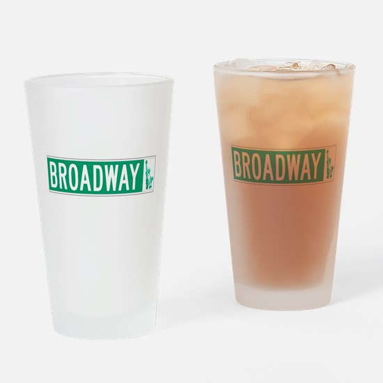 Broadway (with Statue of Liberty), Drinking Glass
