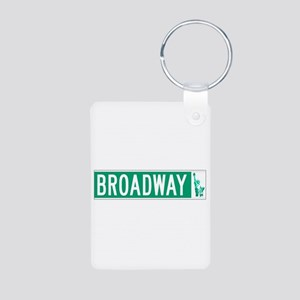 Broadway (with Statue of L Aluminum Photo Keychain