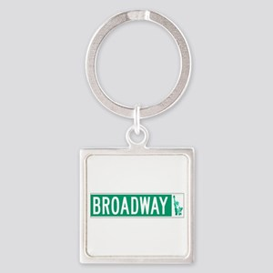 Broadway (with Statue of Liberty), Square Keychain