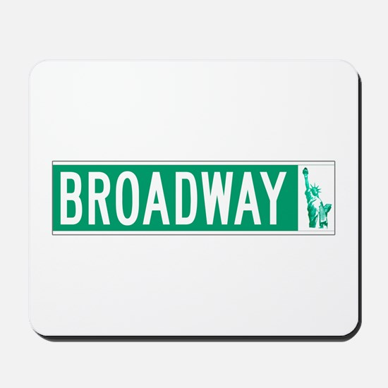 Broadway (with Statue of Liberty), NYC Mousepad