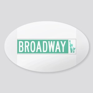 Broadway (with Statue of Liberty), Sticker (Oval)