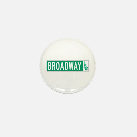 Broadway (with Statue of Liberty), NYC Mini Button