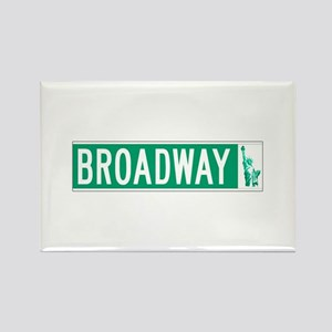 Broadway (with Statue of Liberty) Rectangle Magnet