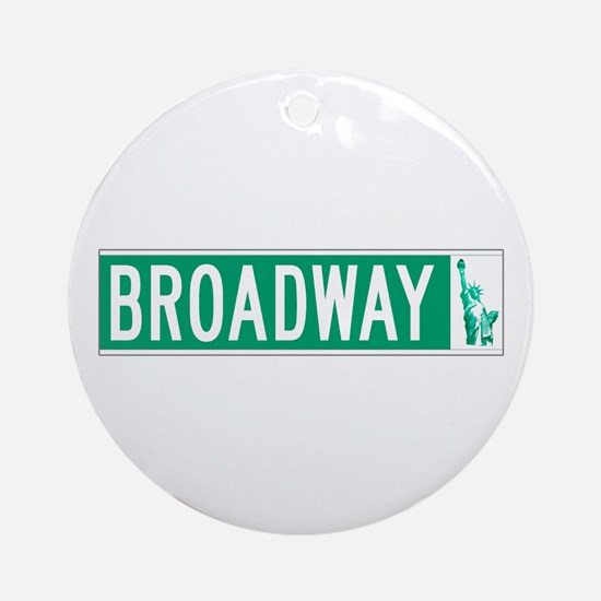 Broadway (with Statue of Liberty), Round Ornament