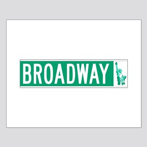 Broadway (with Statue of Liberty), NY Small Poster