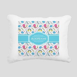 Personalized Name Aqua a Rectangular Canvas Pillow