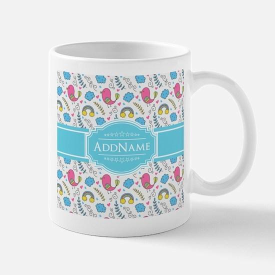 Personalized Name Aqua and Pink Mug