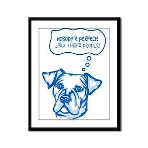 Catahoula Bulldog Framed Panel Print