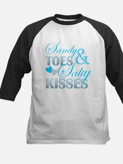 sandy toes salty kisses Baseball Jersey
