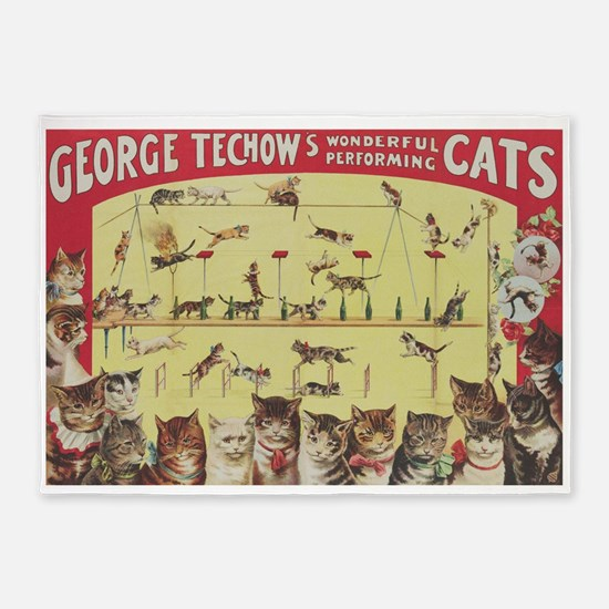 Vintage Circus Cats, Performing Cats Poster 5'x7'A
