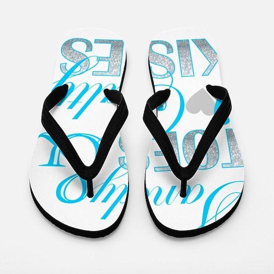 sandy toes salty kisses Flip Flops