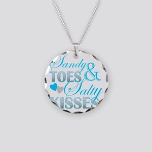 sandy toes salty kisses Necklace Circle Charm