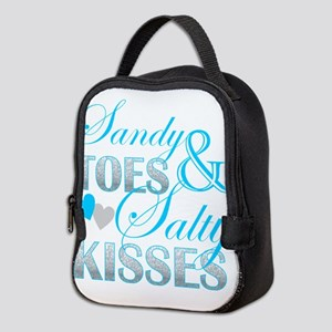 sandy toes salty kisses Neoprene Lunch Bag