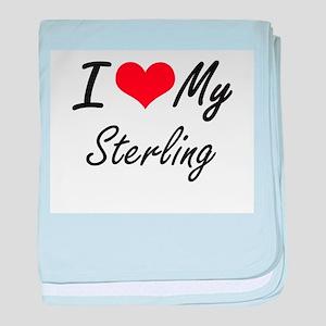 I Love My Sterling baby blanket