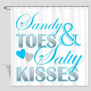 sandy toes salty kisses Shower Curtain