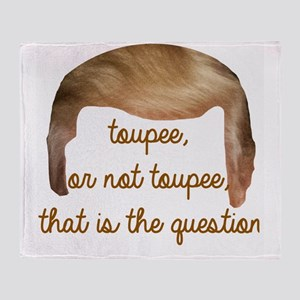toupee or not toupee, Trump Hair Throw Blanket