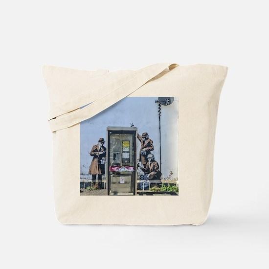 BANKSY SPY BOOTH CHELTENHAM Tote Bag