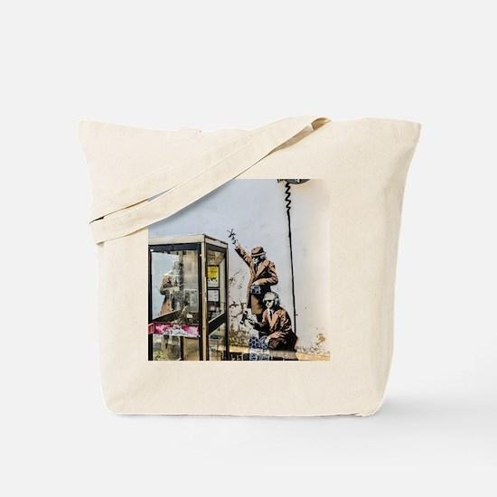 BANKSY SPY BOOTH , CHELTENHAM Tote Bag
