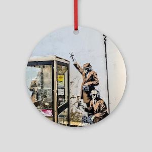 BANKSY SPY BOOTH , CHELTENHAM Round Ornament