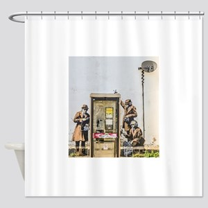 BANKSY SPY BOOTH CHELTENHAM Shower Curtain