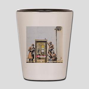 BANKSY SPY BOOTH , CHELTENHAM Shot Glass