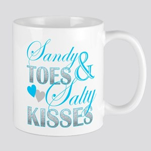 sandy toes salty kisses Mugs