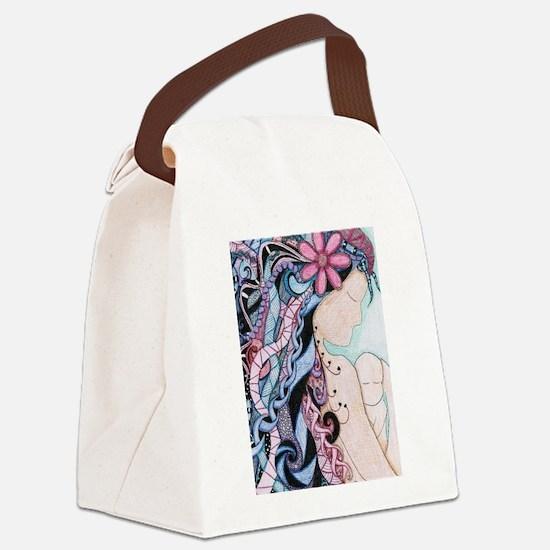 Unique Doula Canvas Lunch Bag