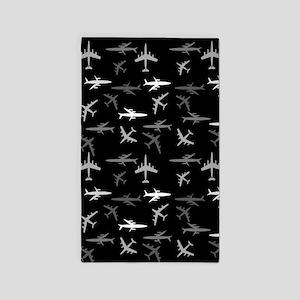 Flight Black Area Rug
