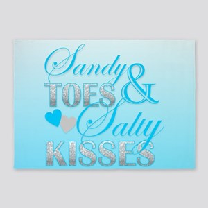 Sandy Toes And Salty Kisses 5'x7'Area Rug