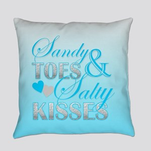 Sandy Toes And Salty Kisses Everyday Pillow