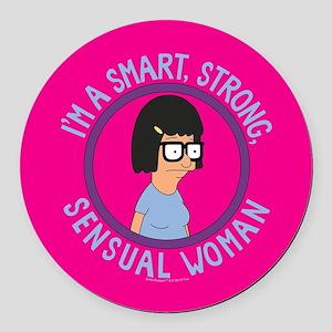 Bob's Burgers Tina Sensual Woman Round Car Magnet