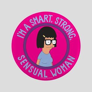 Bob's Burgers Tina Sensual Woman Button