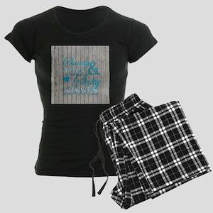 Sandy Toes and Salty Kisses Women's Dark Pajamas