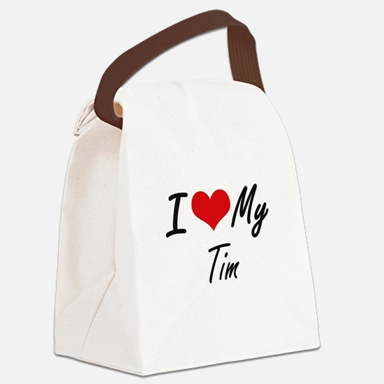 I Love My Tim Canvas Lunch Bag