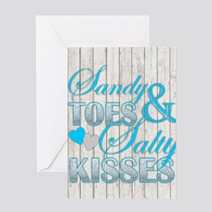 Sandy Toes and Salty Kisses Greeting Cards