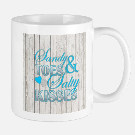 Sandy Toes and Salty Kisses Mugs