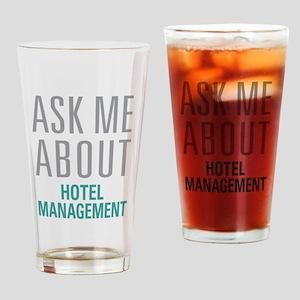 Hotel Management Drinking Glass