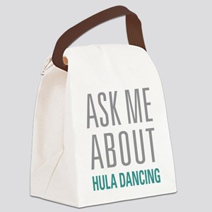 Hula Dancing Canvas Lunch Bag