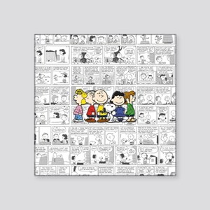 "The Peanuts Gang Square Sticker 3"" x 3"""