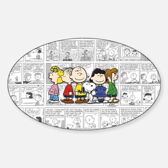 The Peanuts Gang Sticker (Oval)