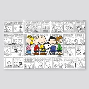 The Peanuts Gang Sticker (Rectangle)