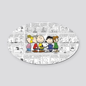The Peanuts Gang Oval Car Magnet