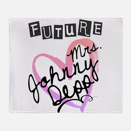 Future Mrs. Johnny Depp Throw Blanket