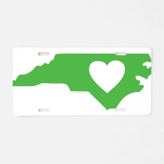 I Love North Carolina Aluminum License Plate
