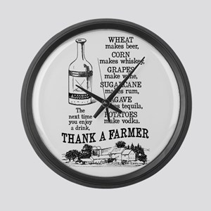 Thank a Farmer Large Wall Clock