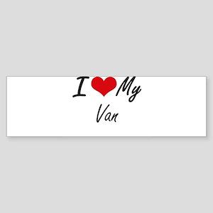 I Love My Van Bumper Sticker